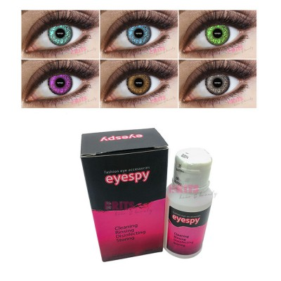 Monthly Wear 2 Tone Contact Lenses + 60ml Solution