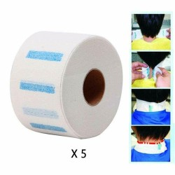 Neck Elastic Paper Rolls Disposable Paper Collar Barber Shop Salon Cape x 5