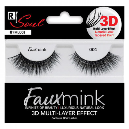 R Soul - Faux Mink Eyelashes Natural Look Tapered Point 3D Multi Layer Effect