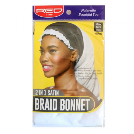 Red by Kiss - 2 in 1 Satin Braid Bonnet WHITE - HBR02