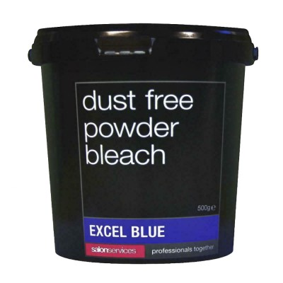 Salon Services Dust Free Powder Bleach Excel Blue - 500g Tub