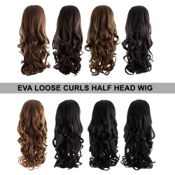 KOKO EVA Loose Curl Synthetic Half Head Wig
